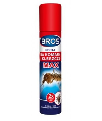 Spray na komary i kleszcze MAX 90ml BROS