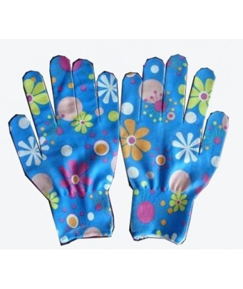 Rękawice ogrodowe w kwiatki rozm. S 10 PAR