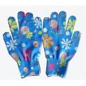 Rękawice ogrodowe w kwiatki rozm. L 10 PAR