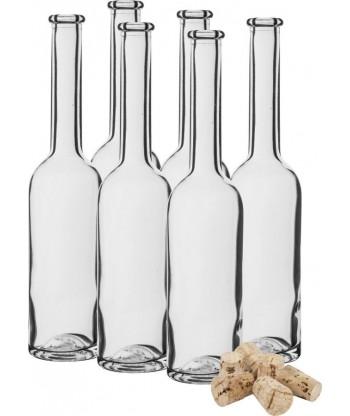 Butelka na nalewkę 100ml 6szt.+ 6 korków BIOWIN