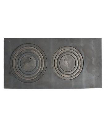 Płyta piecowa dwuotworowa 70 x 33cm