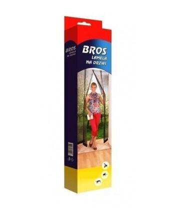 Lamela siatka na drzwi przeciw owadom 100x220cm czarna BROS