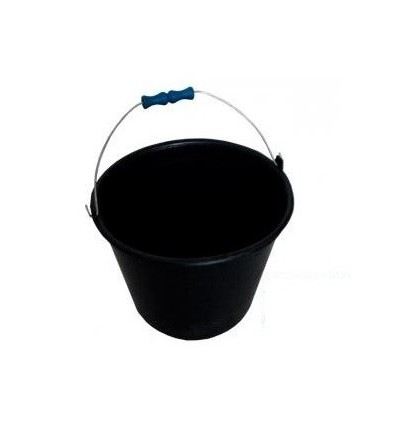 Wiadro plastikowe czarne 10L