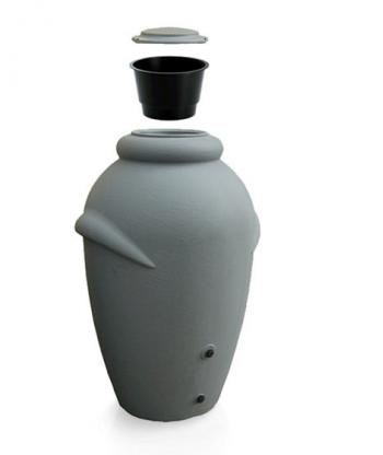 PROSPERPLAST AQUACAN Zbiornik na deszczówkę 360L,  szary ICAN360