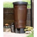 Zbiornik na deszczówkę brązowy Woodcan beczka 265L IDWO265 PROSPERPLAST