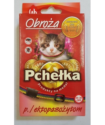 Obroża przeciw ektopasożytom dla kota PCHEŁKA 20-30cm LAB