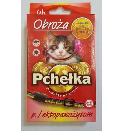 Obroża spacerowa ozdobna dla kota PCHEŁKA 20-30cm LAB