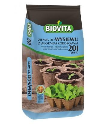 Ziemia do wysiewu nasion z włóknem kokosowym BIOVITA 20L