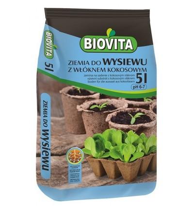 Ziemia do wysiewu nasion z włóknem kokosowym BIOVITA 5L