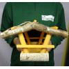 Karmnik dla ptaków kryty słomą mały żółty nr 46 BRAPTA