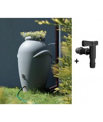 Beczka na wodę deszczówkę ICAN360 szara + kran