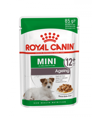 Mini Ageing mokra karma dla psów+12 saszetka 85g Royal