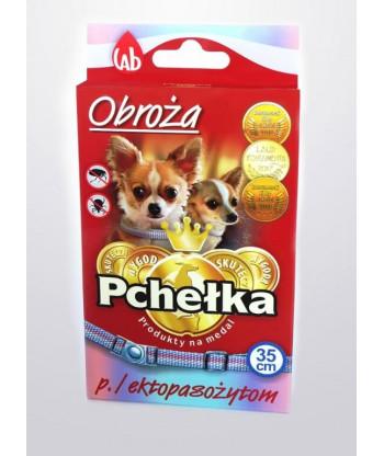 Obroża p. ektopasożytom  dla psów miniaturowych PCHEŁKA 35cm LAB