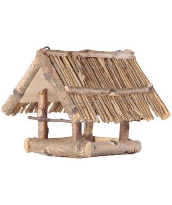 Drewniany karmnik kryty słomą nr. 49 BRAPTA