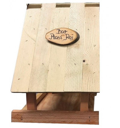 """Karmnik dla ptaków drewniany """"BAR PTASI RAJ"""""""