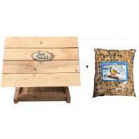 """Karmnik dla ptaków drewniany """"BAR DZIUBEK"""""""