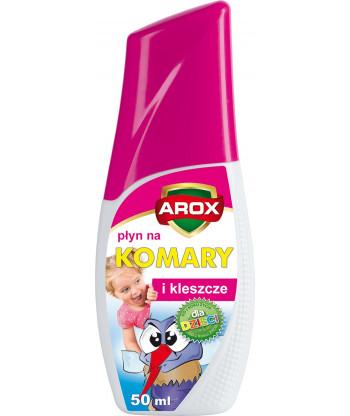 Płyn na komary i kleszcze dla dzieci 50 ml Arox