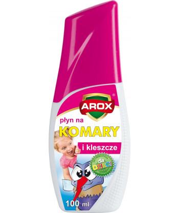 Płyn na komary i kleszcze dla dzieci 100 ml Arox