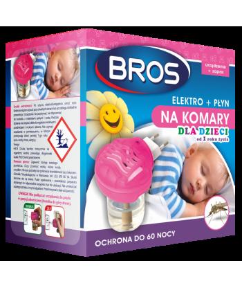 Elektrofumigator + płyn na komary, dla dzieci BROS