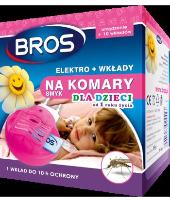 Elektro + 10 wkładów na komary dla dzieci SMYK BROS