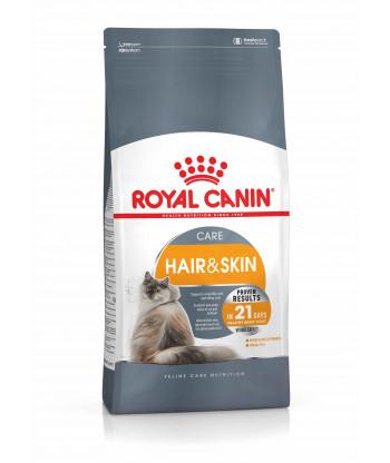 ROYAL CANIN Hair&Skin karma dla kotów Lśniąca sierść 400g