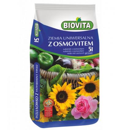 Ziemia uniwersalna do kwiatów z osmovitem BIOVITA 5L