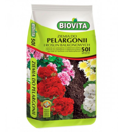 Ziemia do pelargonii BIOVITA 50L