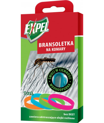 Bransoletka, Opaska na komary świecąca w ciemności EXPEL