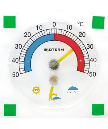 Termometr i higrometr przyklejany BIOWIN