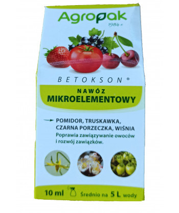 Betokson aktywator zawiązywania owoców 10 ml AGROPAK