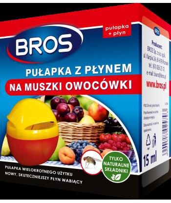 Pułapka z płynem na muszki owocówki BROS