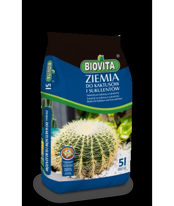 Biovita Ziemia do kaktusów i sukulentów 5l
