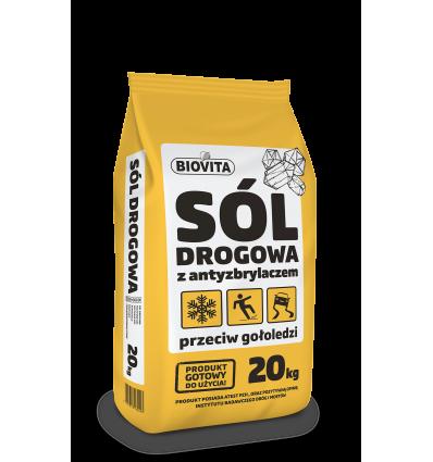 Sól drogowa przeciw gołoledzi BIOVITA 20 kg