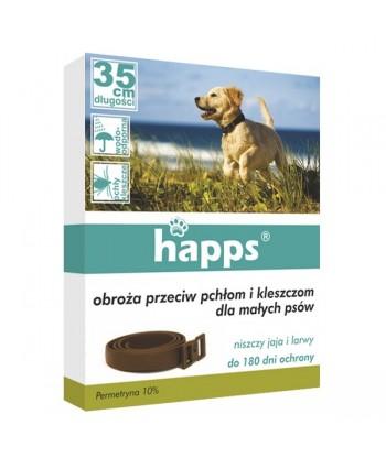 HAPPS Obroża przeciw pchłom i kleszczom dla małych psów BROS