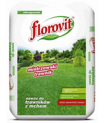 Florovit nawóz do trawników z mchem - Mistrzowski Trawnik 25kg