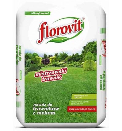 Nawóz do trawników FLOROVIT z żelazem (Fe) 25kg