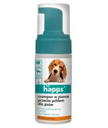 HAPPS SZAMPON w piance przeciw pchłom dla psów 100 ml