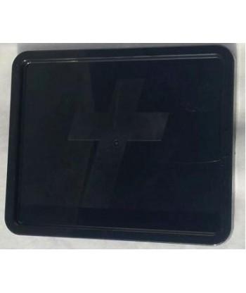 Plastikowa płytka podstawka nagrobkowa prostokątna czarna