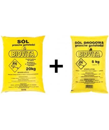 Sól drogowa przeciw gołoledzi BIOVITA 25 kg