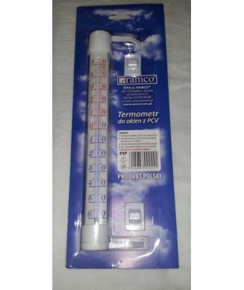 Termometr do okien z PCV zaokienny ŚREDNI 2 kolory