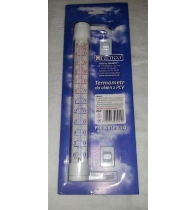 Termometr do okien z PCV zaokienny DUŻY 2 kolory