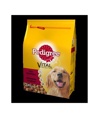 Karma sucha dla psów dorosłych z wołowiną i drobiem 2,4kg Pedigree