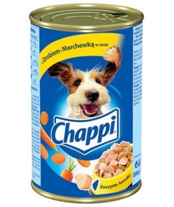 Karma dla psa w puszce drób i marchew 1200g Chappi