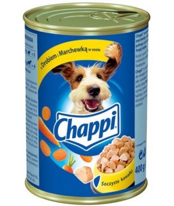 Karma dla psa puszka drób, marchewka 400g Chappi