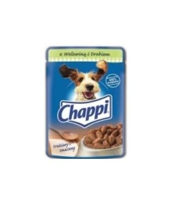 Saszetka dla psa wołowina i drób w sosie 100g Chappi