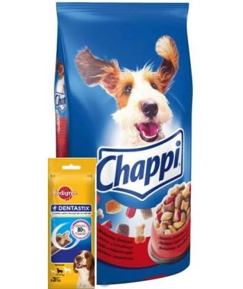Karma dla psa z wołowiną drobiem+dentastix 2,7kg Chappi