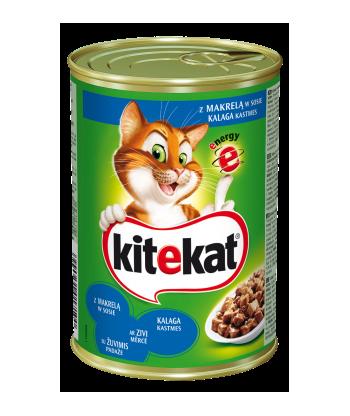 Karma dla kota puszka z kurczakiem 400g Kitekat
