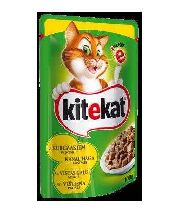 Karma dla kota saszetka z kurczakiem 100g Kitekat