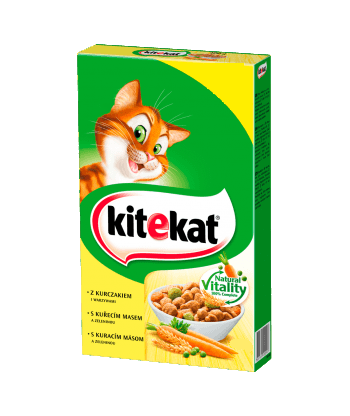 Karma dla kota z kurczakiem i warzywami sucha 300g Kitekat