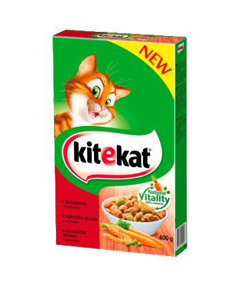 Karma dla kota z wołowiną i warzywami sucha 300g Kitekat